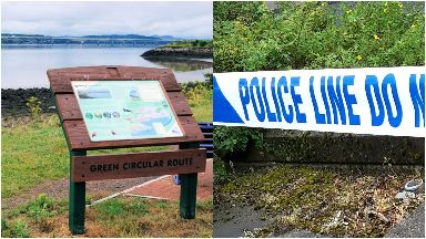 Grassy Beach: Police have cordoned off area. Dundee