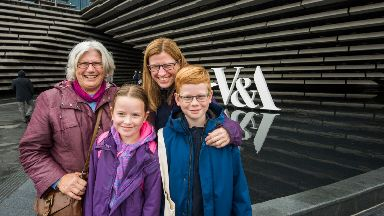 Sheila Harkness and family V&A October 2018