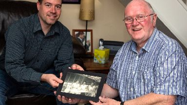 Tam Watson reunited with picture of his mother from vintage camera