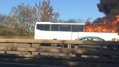 M8 bus fire