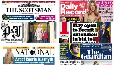 Front pages: Thursday, October 18