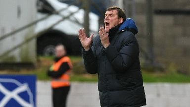 Reaction: Tommy Wright has called for his St Johnstone players to show fight this weekend.