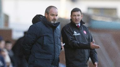 Shared: Steve Clarke and Martin Canning settled for a point apiece at Rugby Park.