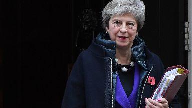 Theresa May off to PMQs October 31 2018.