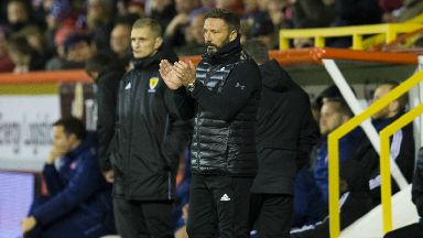 Win: Derek McInnes was delighted by team's showing against Hamilton.
