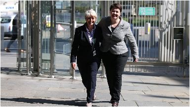 Annie Wells MSP with Ruth Davidson