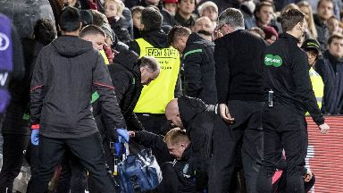 Trouble: Neil Lennon was struck with a coin.