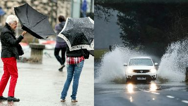 Wind rain Scotland