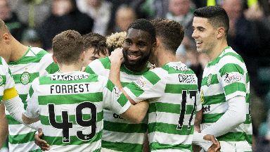 Odsonne Edouard scored twice in Celtic's win.