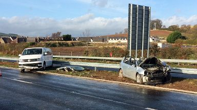 Three vehicle crash on A90 southbound on Sunday November 4