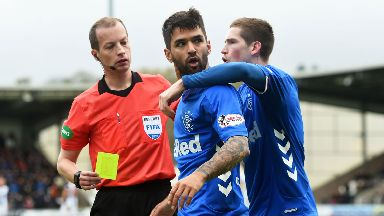 Rangers are challenging the yellow card decision.