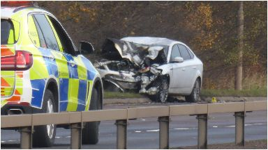 Crash: The collision took place at around 6.45am on Saturday