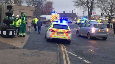 Inverurie: Burn Lane was closed for several hours.