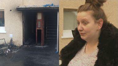 Lisa Mallon: She lives in the block of flats. Coatbridge