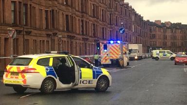Glasgow: Roads closed off. Holmlea Road Cathcart Glasgow