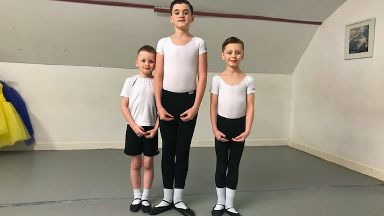Aidan, Matthew and Andrew Young who have austism and ADHD love dancing