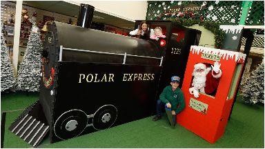 All aboard: The replica Polar Express.