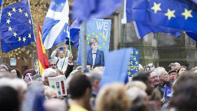 March against Brexit Edinburgh 2017 Scottish Scotland Brexit generic