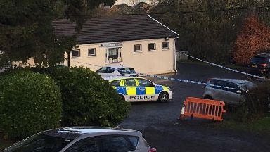 Shooting: Car park cordoned off. Taylor Veterinary Practice in Cathkin, Rutherglen
