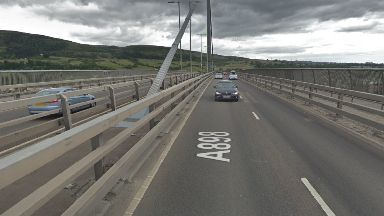 Erskine Bridge: Road was closed.