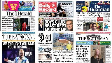 News Stand: All the front pages across Scotland.