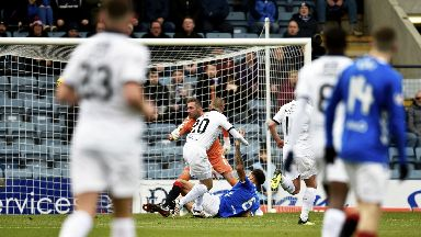 Opener: Kenny Miller pounces to put Dundee in-front.