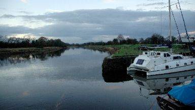 River Nith: He was pulled out of water.