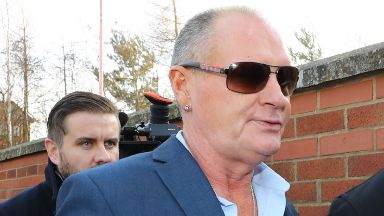 Paul Gascoigne: He appeared in court.