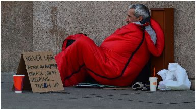 Homelessness: More than 5000 Scots sleep rough every year (file pic).