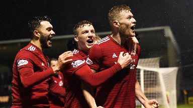 Rise: Aberdeen climbed the table with their win.