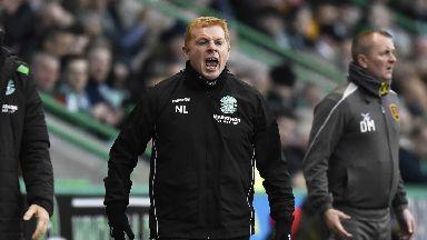 Fury: Lennon blasted striker Kamberi's showing against Livi.