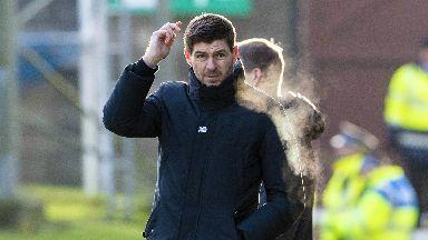 Below-par: Gerrard slammed Rangers' first-half display in Perth.