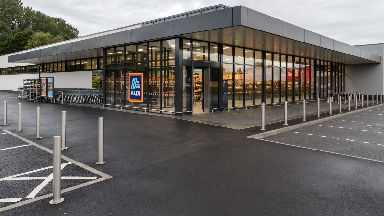 Generic image of an Aldi supermarket store December 2018