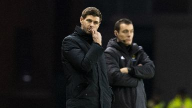 Frustration: Gerrard rued Rangers' inability to double their lead against Hibs.