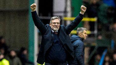 Levein enjoyed Hearts' derby win.