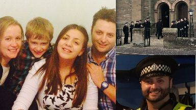 Dean Morrison: Tributes have been paid to him. Carnoustie Police Dead Funeral