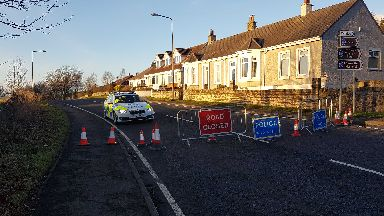 Torphichen Road crash scene January 2019