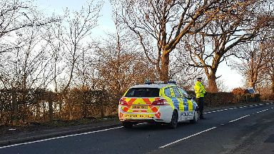 Torphichen Road crash scene 2, January 2019