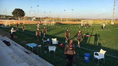 Hearts training Spain