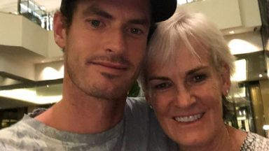Andy Murray: He met his mum after his announcement.