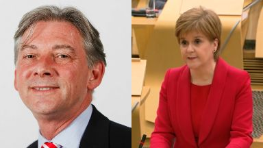 Breach claim: Leonard has called on Sturgeon to refer herself to the panel.