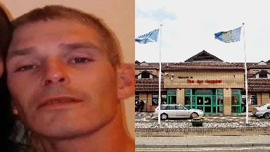 Missing: James Sharpe was last seen at Ayr Hospital.