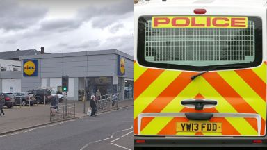Stabbing: Police were called to the supermarket. Lidl Govanhill Langside Road