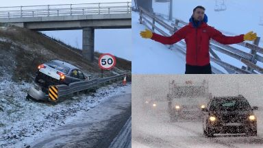 Snow: Several crashes have been caused. 17/01/19