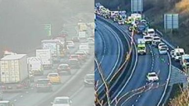 Delays: Huge tailbacks are being caused. Body Edinburgh City Bypass