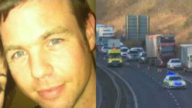 Craig Bruce: Police are investigating how he died. Edinburgh City Bypass