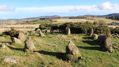 Stone circle found at Leochel-Cushnie in Aberdeenshire only two decades old Jan 2019