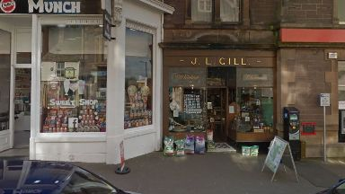 J.L. Gill Whisky Shop in Crieff's West High Street