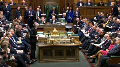 Prime Minister Theresa May speaking about the Government's Brexit deal, in the House of Commons, London.