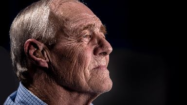 Old man generic, old person, OAP, Elderly, Man with hearing aid